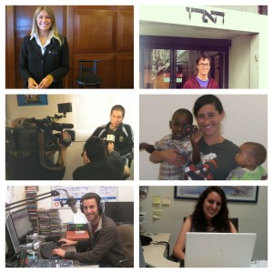 Career Israel participants interning at a variety of placements across Israel.